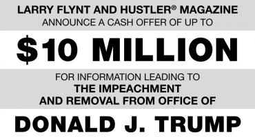Larry Flynt ofrece 10 mdd a quien le de información para destituir a Trump