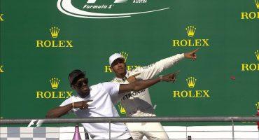 Lewis Hamilton + Usain Bolt= Una foto épica
