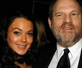 Lindsay Lohan defiende a Harvey Weinstein y luego borra su post