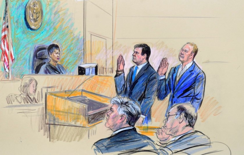 Paul Manafort y Rick Gates ante tribunal
