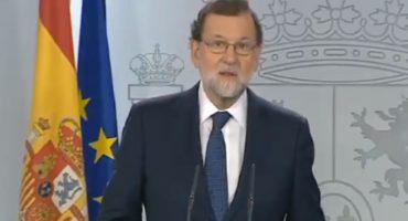 Rajoy anuncia que suspenderá autonomía de Cataluña para
