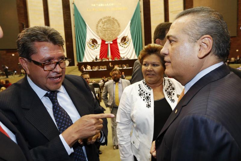 Ricardo Monreal y Manlio Fabio Beltrones