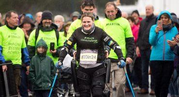 El cielo es el límite: Mujer parapléjica camina 16 kilometros para recaudar dinero a la caridad