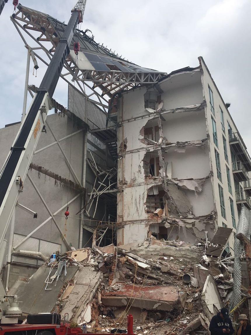 Residencial San José, edificio afectado en el sismo del 19 de septiembre