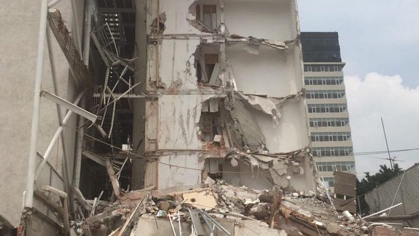 Residencial San José, edificio afectado tras el sismo