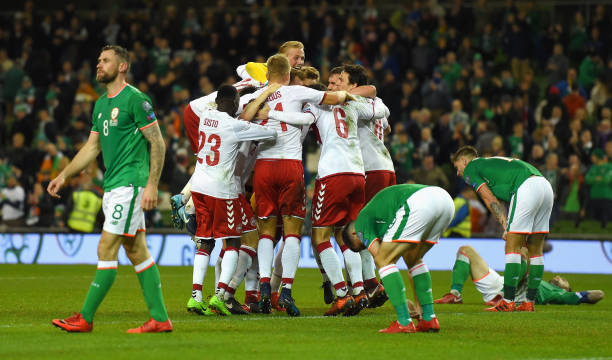 Se acabó la suerte irlandesa, Dinamarca golea y se queda con el boleto al mundial