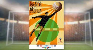 Lev Yashin protagoniza el póster oficial del Mundial de Rusia 2018