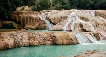 Las cascadas de Agua Azul se