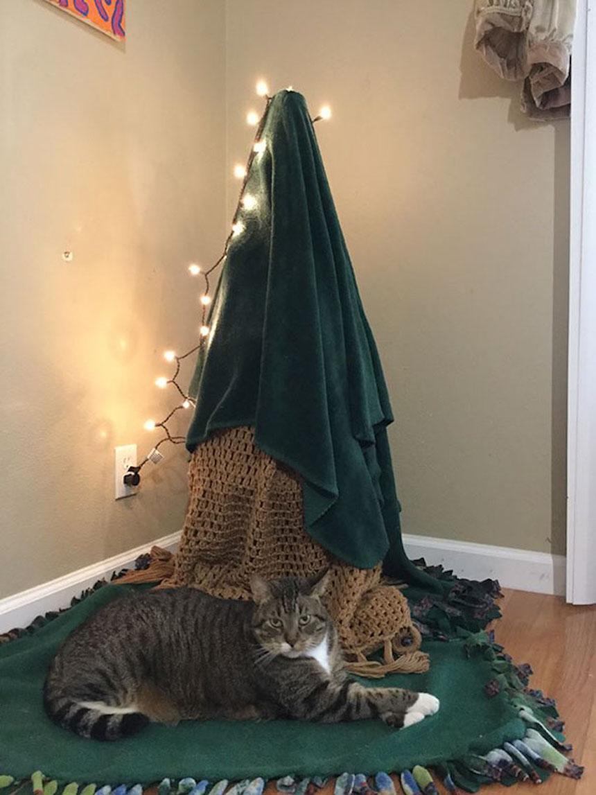 Protegiendo árboles de Navidad - Toallas