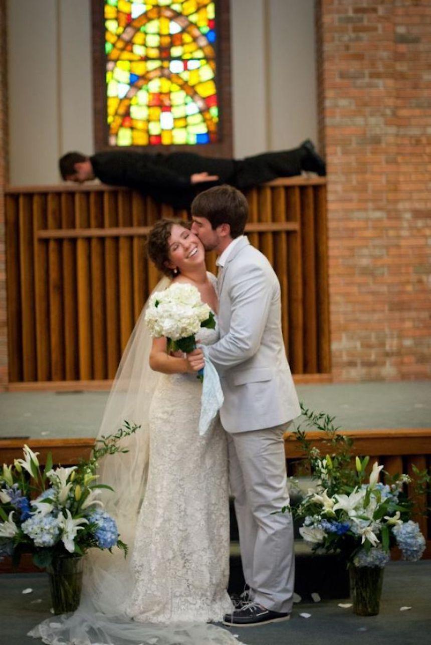 Photobombs de bodas - Padre chistoso