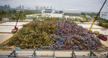 China tiene un cementerio de bicicletas, ¡y es del tamaño de un campo de fútbol!