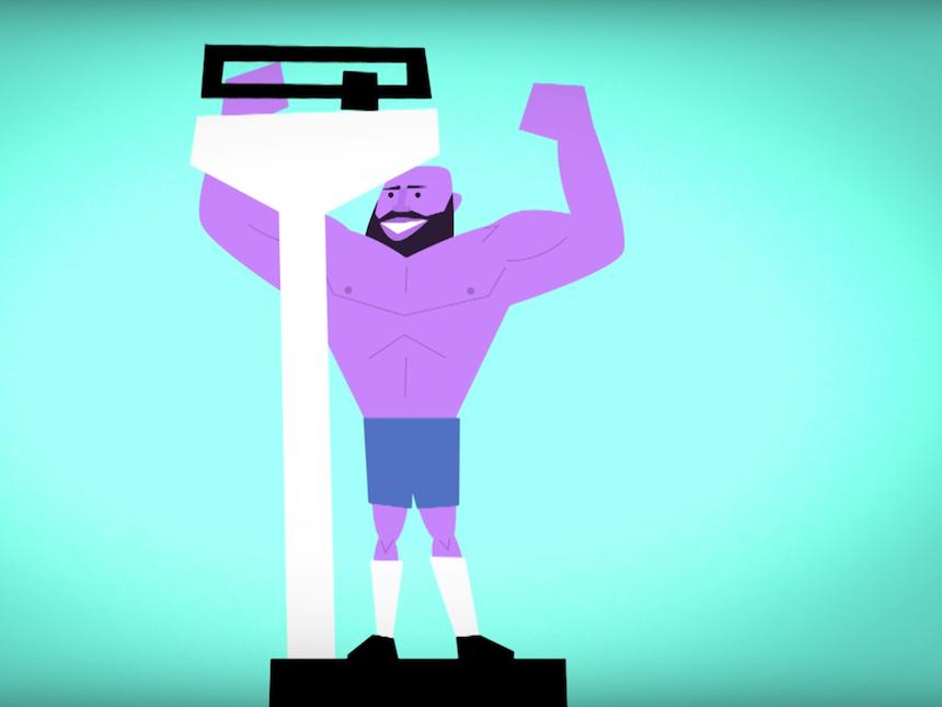 Corto animado - Funcionamiento de los músculos
