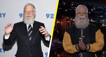 ¡El mejor regalo de Halloween es ver a Dave Grohl disfrazado de David Letterman! 