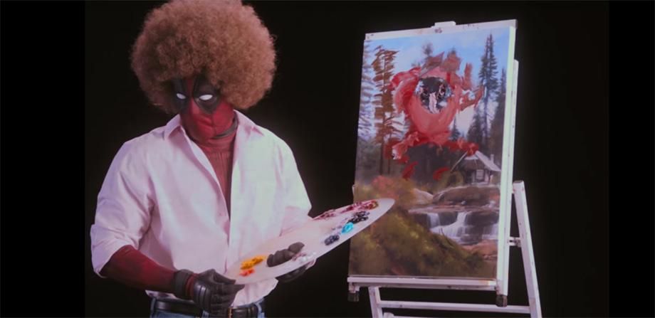 Deadpool se convierte en Bob Ross en el teaser 'Wet on Wet'
