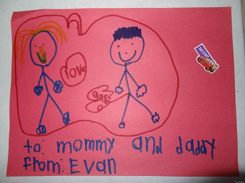Dibujos de niños - Amor y gases