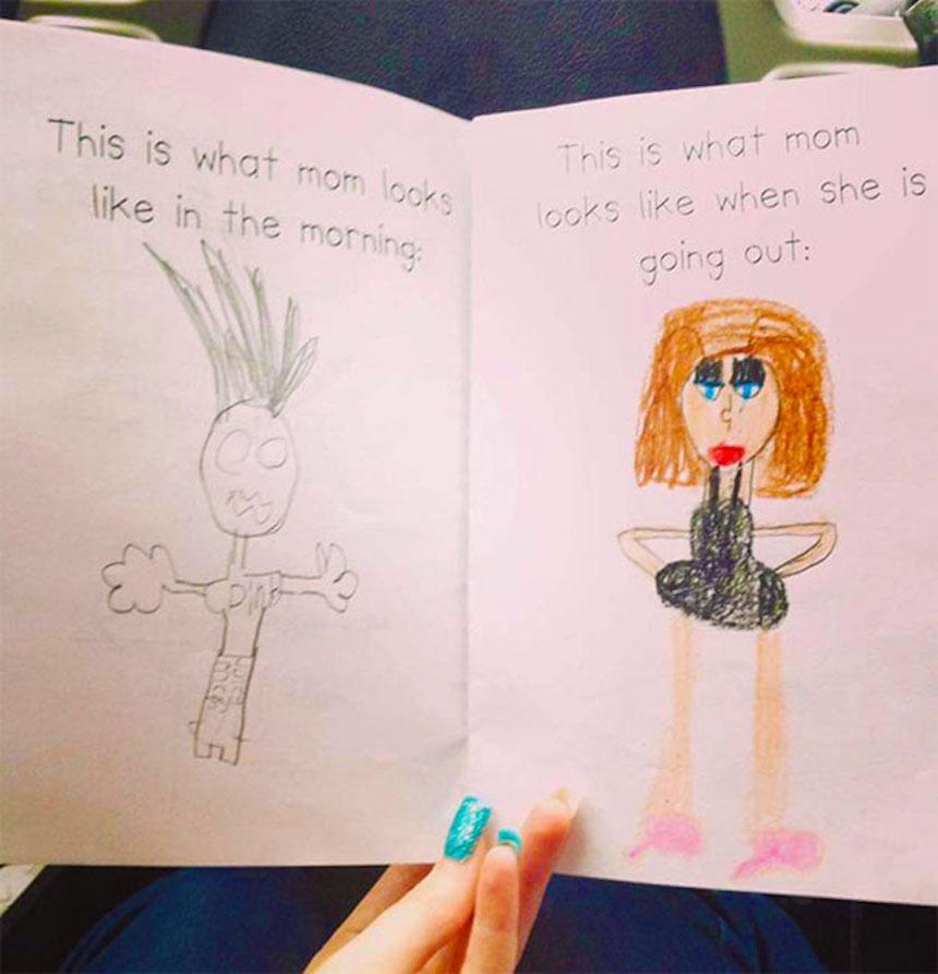 Dibujos de niños - Vestimenta de la madre