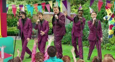 Los chicos de 'Stranger Things' y James Corden hacen del Upside Down una experiencia musical