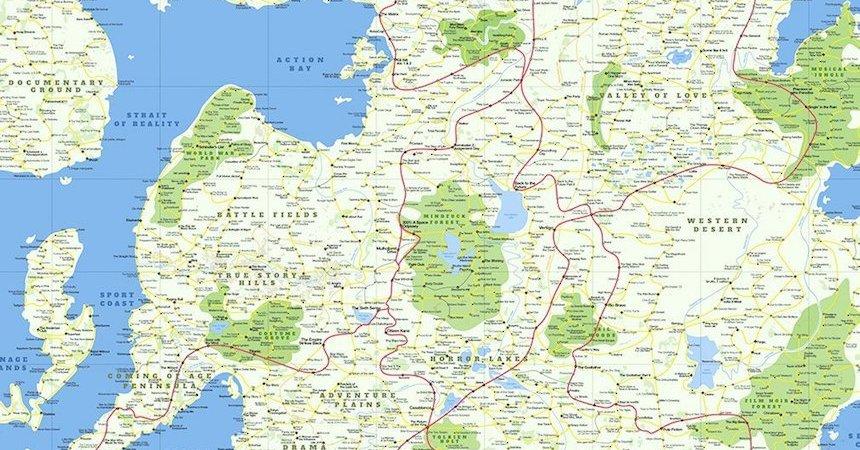 Mapa del mundo de las películas