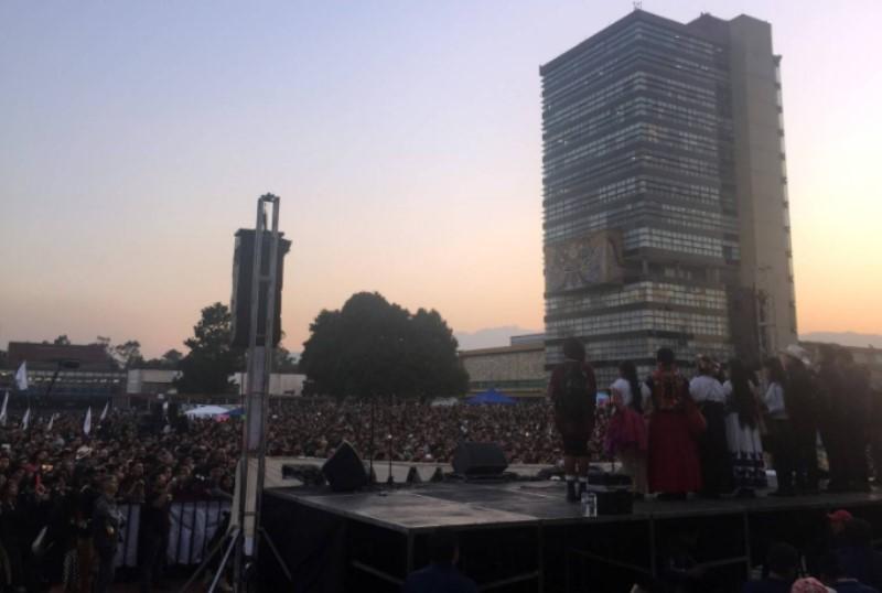 Marichuy en la UNAM