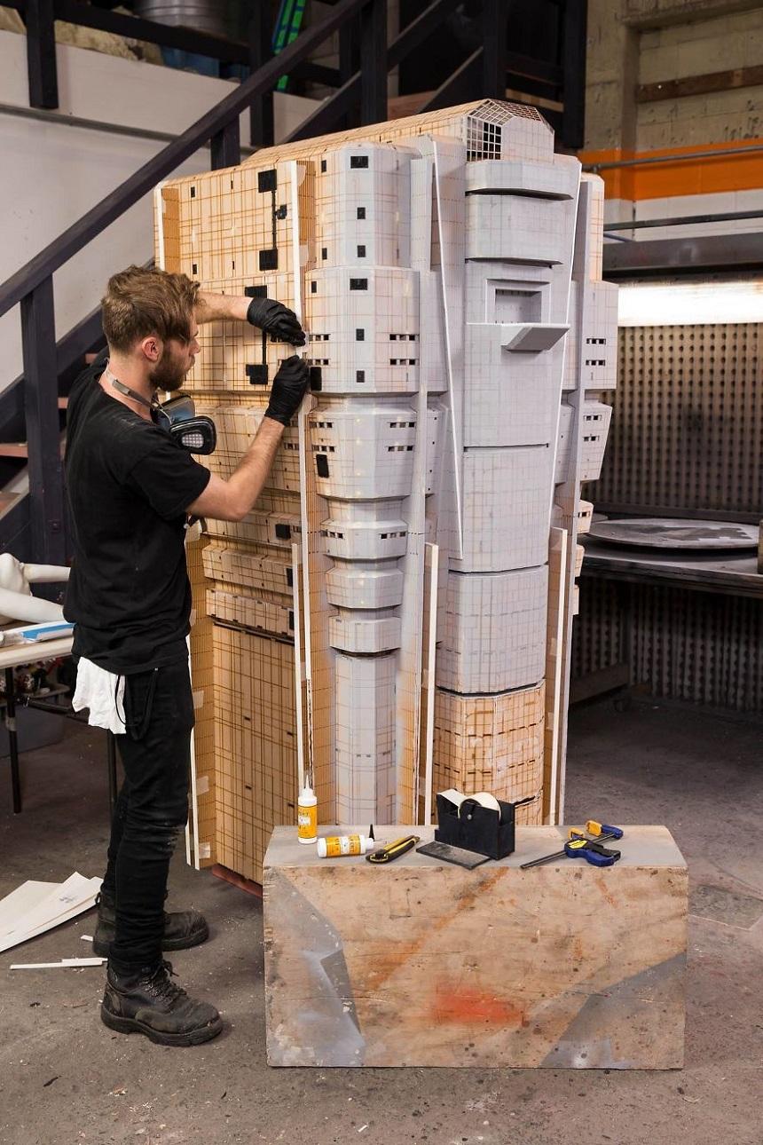 Escenarios miniatura de Blade Runner – Creación