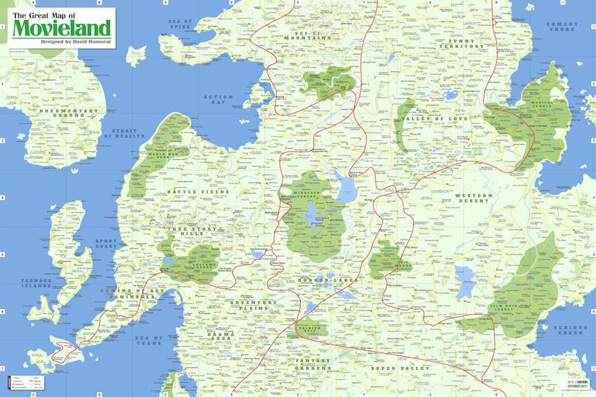 Movieland - Mapa de películas