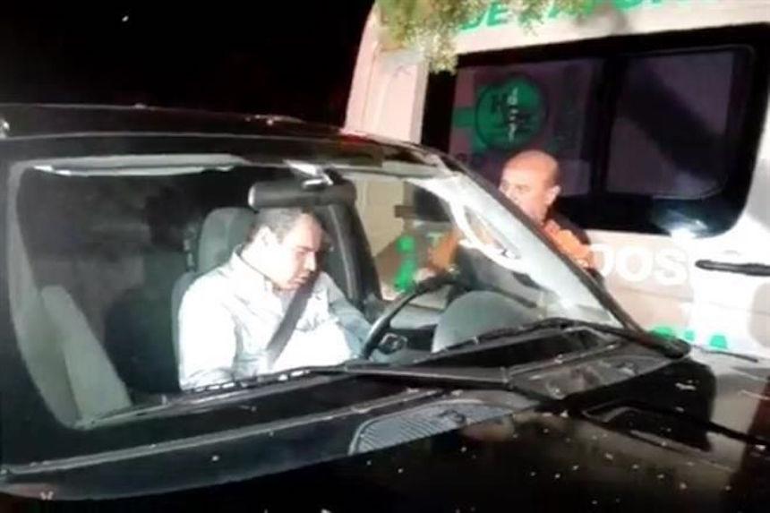 Omar Borboa, político panista chocó con un árbol