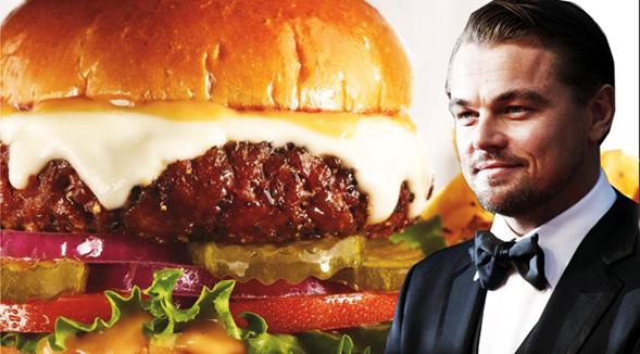 La hamburguesa con la que Leonardo DiCaprio salvará al mundo
