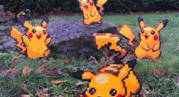 Geniales imágenes pixeladas que mezclan la realidad con la cultura pop