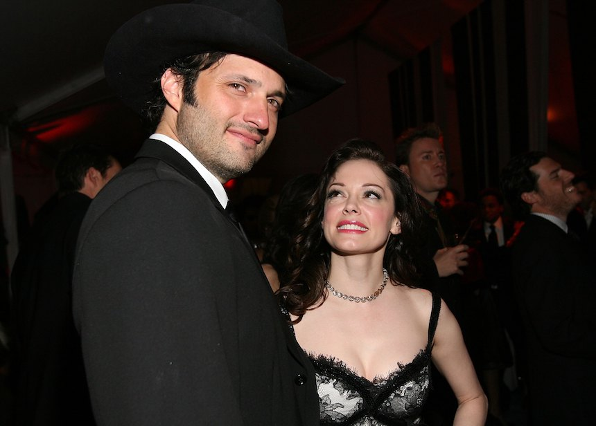 Rose McGowan y Robert Rdríguez
