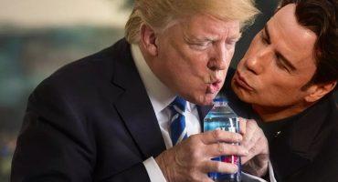 Batallas de Photoshop presenta: Donald Trump bebiendo agua