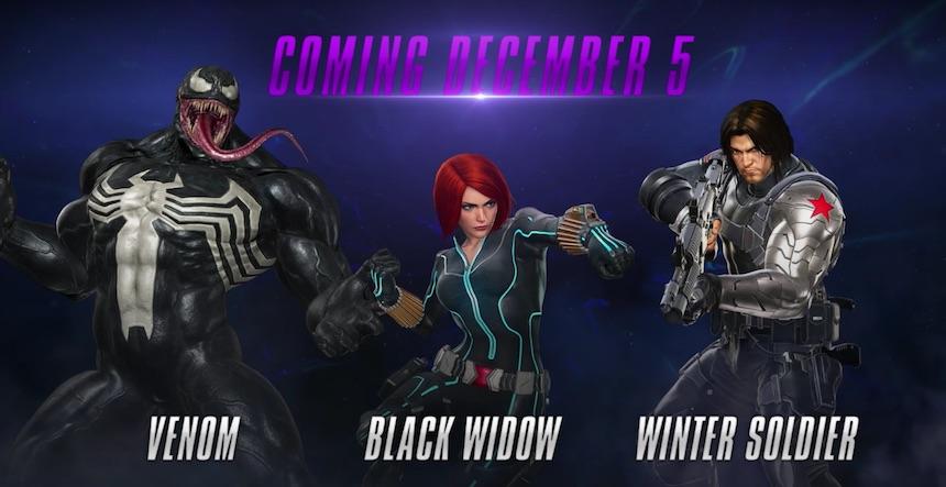 Venom, Black Widow y Winter Soldier en Marvel vs Capcom Infinite