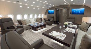 Así es por dentro el Dreamliner 787 que puedes rentar para vuelos privados