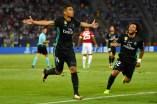 Casemiro festeja su gol contra el Manchester United de Mourinho - Photo by Dan Mullan/Getty Images