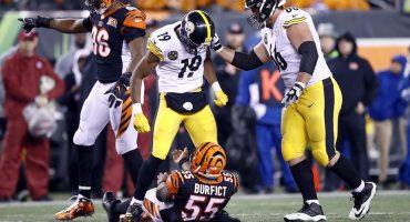 La NFL castigó a JuJu Smith-Schuster y George Iloka por dar golpes bajos