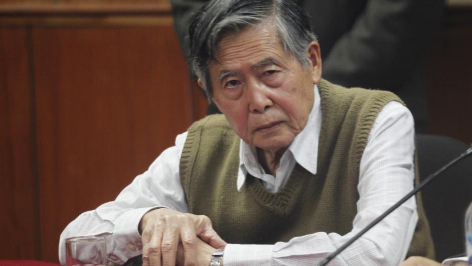 El expresidente peruano, Alberto Fujimori