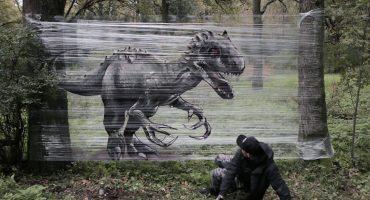 De cuando usas el plástico sabiamente y haces graffiti con él