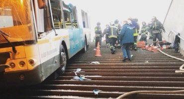 Moscú: autobús arrolla a peatones, al menos 15 heridos y 5 muertos