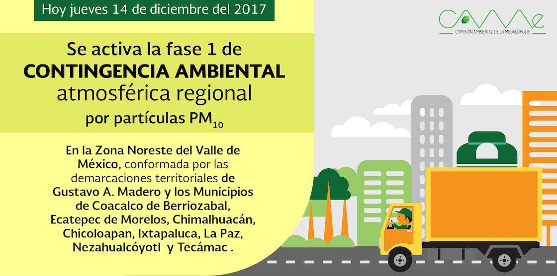 Activan contingencia ambiental en zona noreste del Valle de México