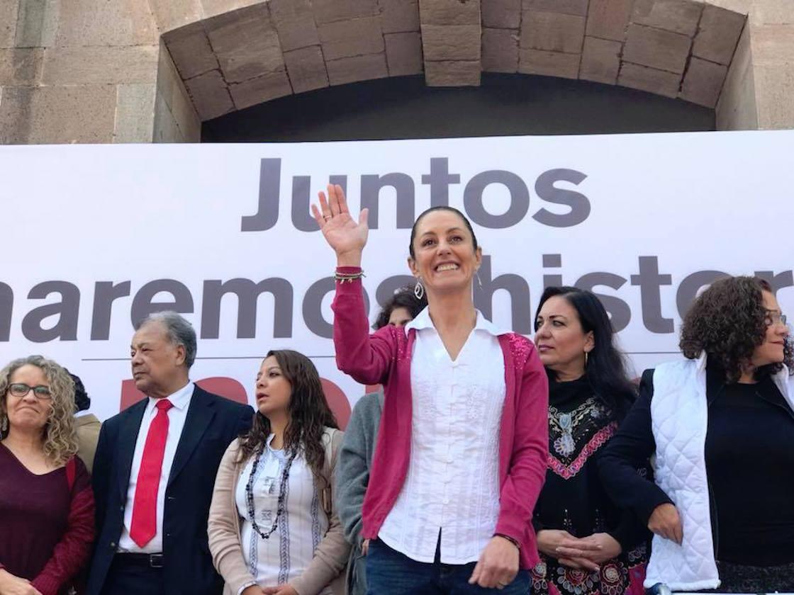Claudia Sheinbaum, precandidata de Morena a la Jefatura de Gobierno de la Ciudad de México