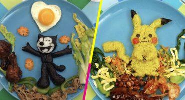 ¿Así o más creativa? Esta mamá hace obras de arte en forma de comida