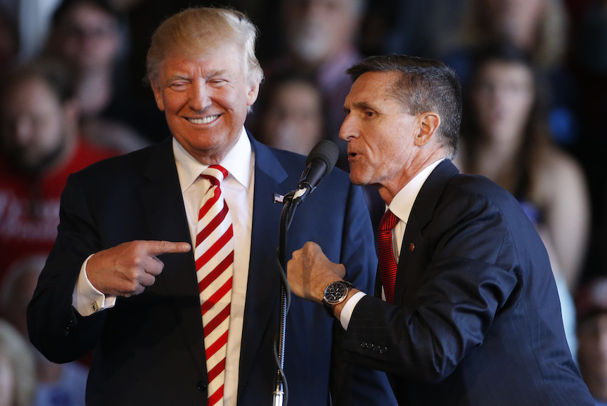 Donald Trump y Michael Flynn