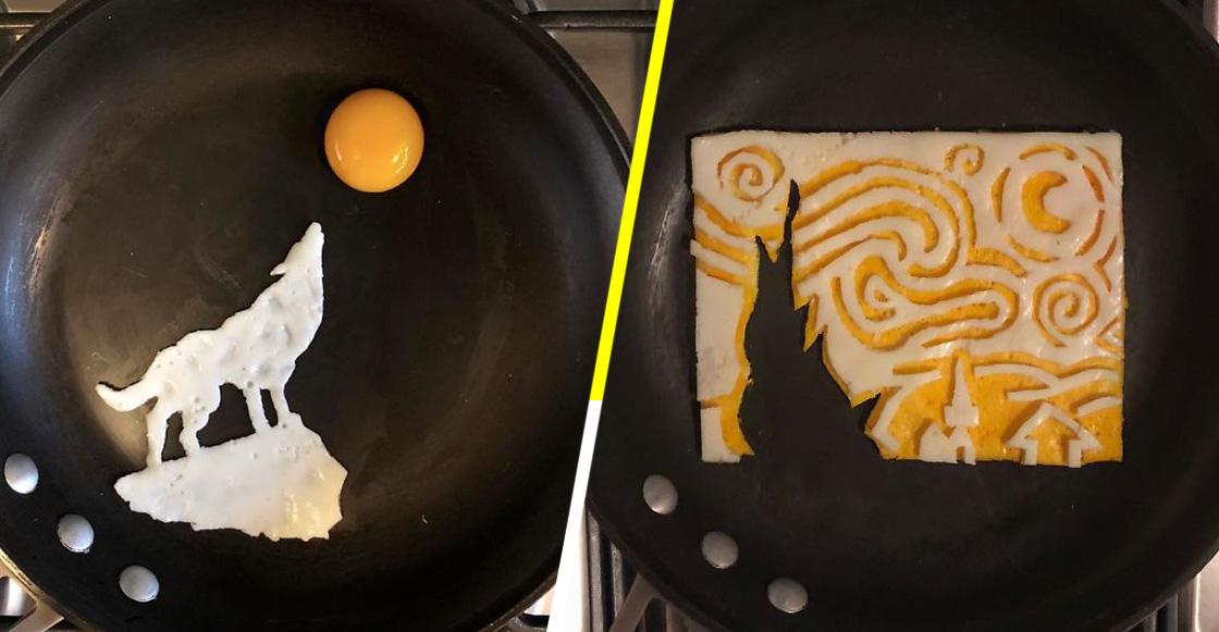 Este artista mexicano convierte sus huevos estrellados en verdaderas obras de arte