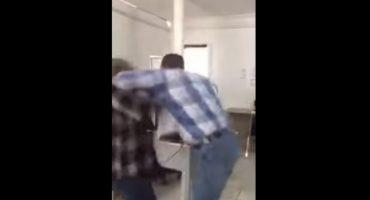 Lo graban golpeando a una mujer... es juez de control en Chihuahua