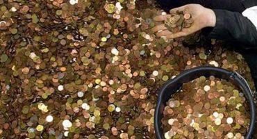 Y en la nota idiota del día: Este banquero tardó 6 meses en contar un millón de monedas