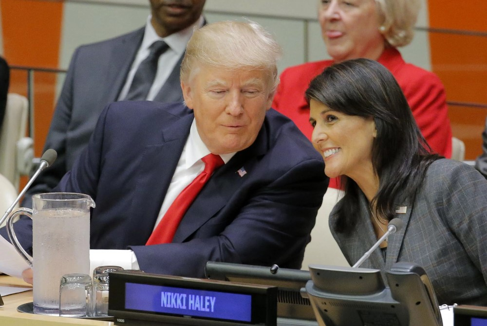 Nikki Haley y Donald Trump