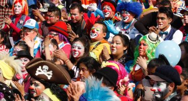¡Chí que chí! Más de mil payasos realizan peregrinación a la Basílica de Guadalupe