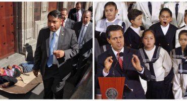 Meade y Peña en dos fotos que resumen un sexenio