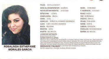 Encuentra cuerpo de la joven Rosalinda Esthefanie en el Estado de México