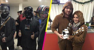 Qué no se pierda la bonita costumbre: ¡Disfraces en la premier de Star Wars!