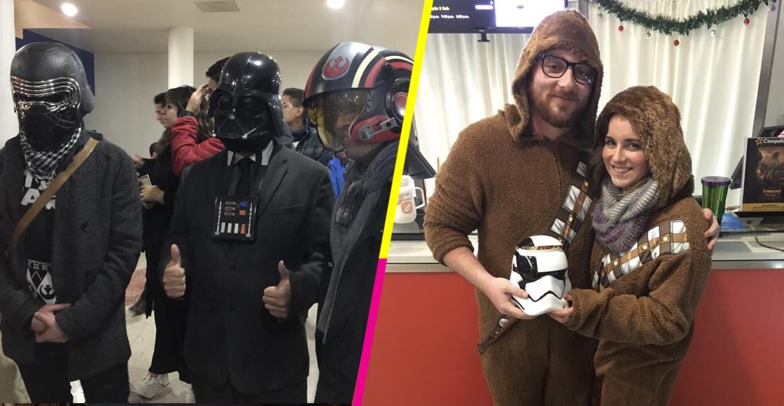 Qué no se pierda la bonita costumbre: ¡Disfraces en la premiere de Star Wars!